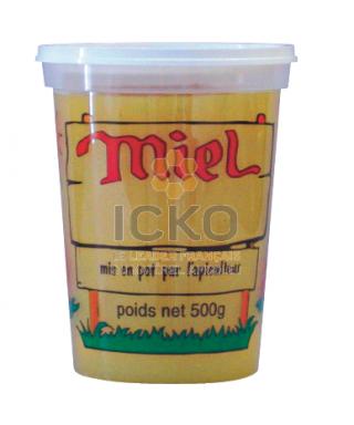 Pot pep nicot 500 g miel couleur le sachet de 10