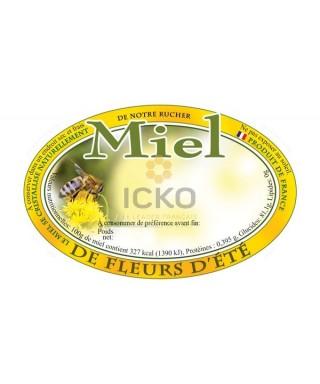 100 etiquettes ovales 92 x 60 de fleurs d'ete