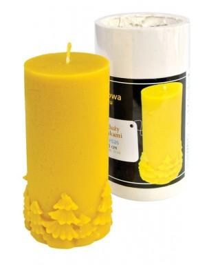 Moule bougie : cylindre avec des arbres de noël, grand