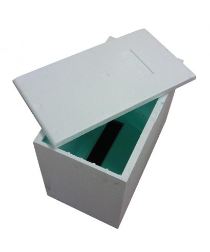 Ruchette polystyrene bleue dt 6 cadres