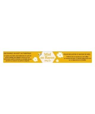 Etiq. miel en rayon 30x340 le rouleau de cent