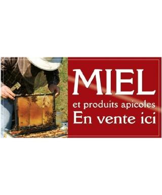 Banniere miel 2 x 1m modèle apiculteur