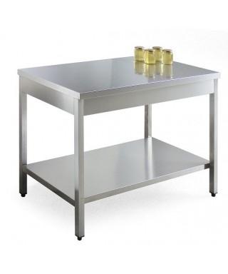 Table inox 1200x700xh900 2 niveaux