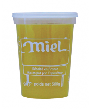 Pot plastique nicot 500 gr miel le carton de 300