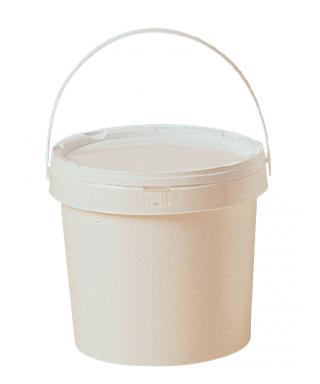 Seau plastique 3 kg blanc avec couvercle