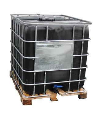 Cuve noire reconditionée 1000 lt/palette bois