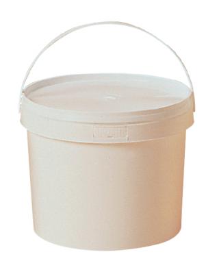 Seau plastique 5 kg blanc avec couvercle