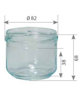Verrine 260 ml to 82 la palette de 2548