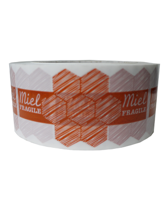 Adhesif miel/fragile 50mmx100m