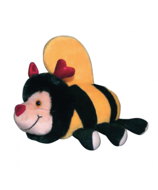 Peluche abeille couchee