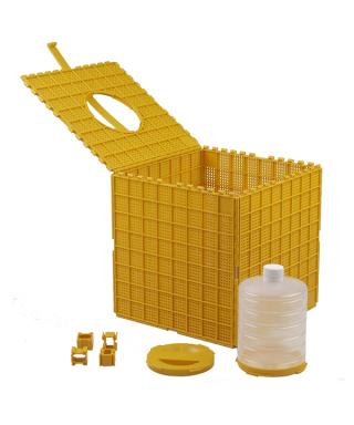 Box pour paquet abeille avec nourrisseur Apisaveurs