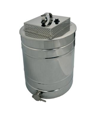 Fondoir inox cylindrique 150l cuve (non isolé) + couv chauffant