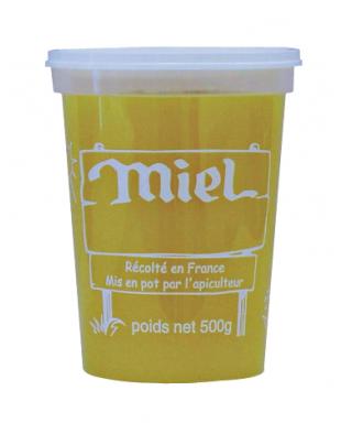 Pot plastique nicot 500 gr miel le sachet de 25