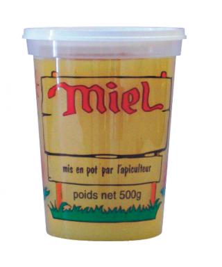Pot pep nicot 500 g miel couleur transparent le carton de 300