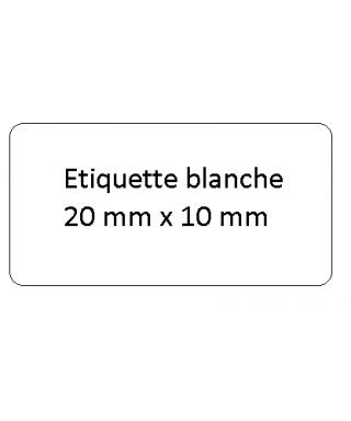 Etiquette 20x10 blanche perso le cent