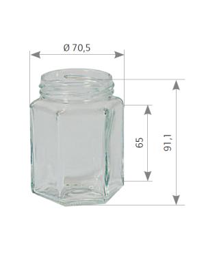 250 g hexagonal 196 to 58 le pack de 12