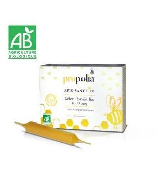 Ampoules de Gelée Royale Bio Import, miel , mangue, ananas