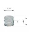 Pack de 20 Pots en verre cylindriques 30g TO43