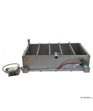Bac décanteur 160L, double parois, chauffé