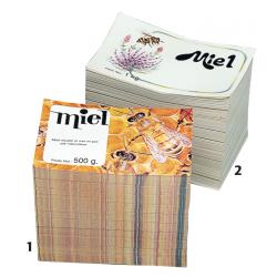 Etiquette en papier gommé pour pot Kg - differentes dimensions