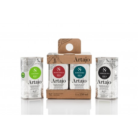 Huile olive BIO extra vierge - coffret 4 bouteilles n°8