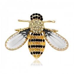 Broche bijou abeille dorée- maman