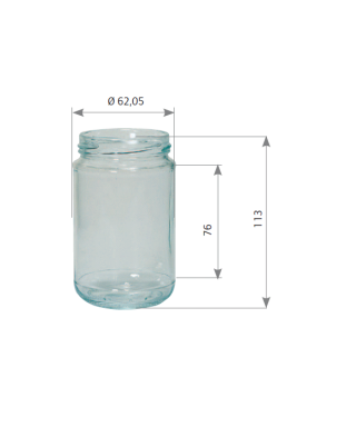 Pot en verre 314 ml std to 63 pack de 20 (400gr)