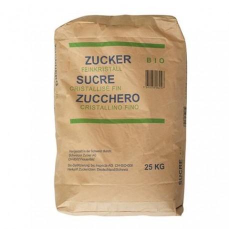 Sucre bio de betterave , le sac de 25 kg