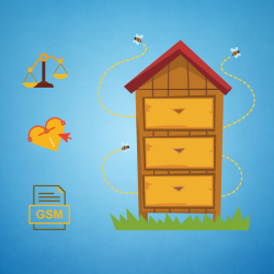 Coffret connecté - surveiller mes ruches - balance et coeur